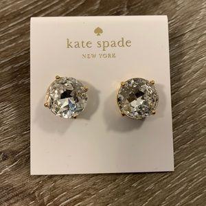 Kate Spade Large Crystal Gumdrop Earrings